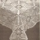 Pineapple Square Tablecloth II Crochet Pattern C 1041