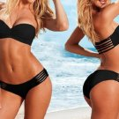 free shipping black woman Bandage Bikini Swimsuit