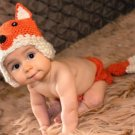 free shipping fox baby photo prop baby clothes knitted baby photo prop