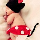 free shipping Mickey Mouse Minnie baby photo prop baby clothes knitted baby photo prop