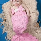 free shipping pink sea-maid baby photo prop baby clothes knitted baby photo prop