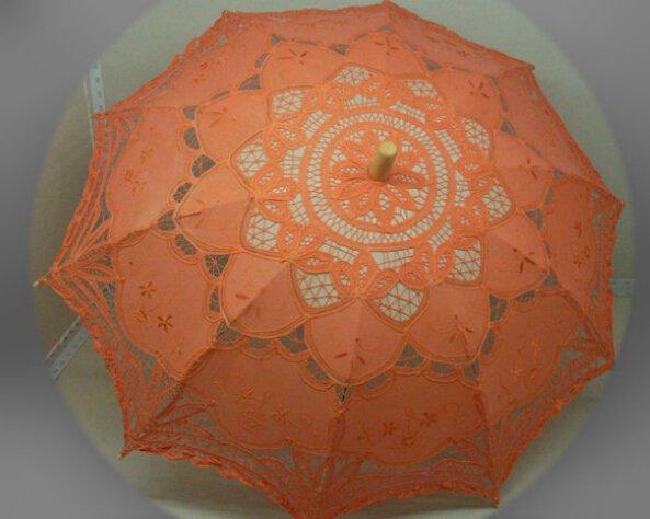 free shipping Exquisite White/Ivory Battenburg Lace Wedding Parasol Umbrella Bridal Shower