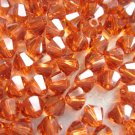 72X 4mm Swarovski 5328 Xilion Crystal Beads Indian Red
