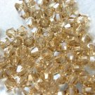 72X 4mm Swarovski 5328 Xilion Crystal Beads Light Colorado Topaz