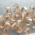 72X 4mm Swarovski 5328 Xilion Crystal Beads Light Peach