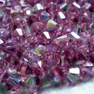 72X 4mm Swarovski 5328 Xilion Crystal Beads Rose AB