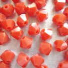 72X 4mm Swarovski 5328 Xilion Crystal Beads Dark Red Opal