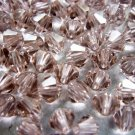 72X 4mm Swarovski 5328 Xilion Crystal Beads Vintage Rose