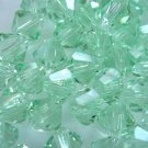 24X 5mm Swarovski 5328 Xilion Crystal Beads Chrysolite