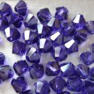 24X 5mm Swarovski 5328 Xilion Crystal Beads Purple Velvet