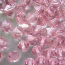 24X 6mm Swarovski 5328 Xilion Crystal Beads Light Rose