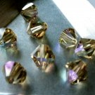12X 8mm Swarovski 5328 Xilion Crystal Beads Light Colorado Topaz AB