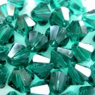 6X 10mm Swarovski 5328 Xilion Crystal Beads Emerald