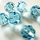 6X 8mm Swarovski 5000 Round Crystal Beads Aquamarine