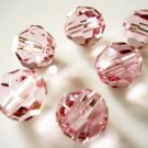 6X 8mm Swarovski 5000 Round Crystal Beads Light Rose