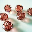 6X 8mm Swarovski 5000 Round Crystal Beads Padparadscha
