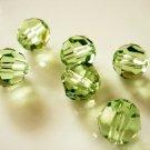 4X 10mm Swarovski 5000 Round Crystal Beads Peridot