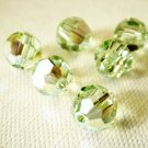 6X 8mm Swarovski 5000 Round Crystal Beads Chrysolite AB