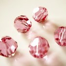 6X 8mm Swarovski 5000 Round Crystal Beads Rose