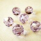 6X 8mm Swarovski 5000 Round Crystal Beads Violet