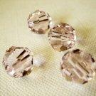 4X 10mm Swarovski 5000 Round Crystal Beads Rosaline