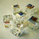 Crystal AB 4X 6mm 5601 Cube Swarovski Crystal