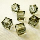 Black Diamond 4X 6mm 5601 Cube Swarovski Crystal