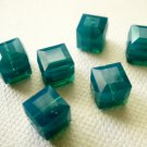 Caribbean Blue Opal 4X 6mm 5601 Cube Swarovski Crystal