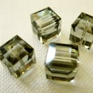 Black Diamond 2X 8mm 5601 Cube Swarovski Crystal