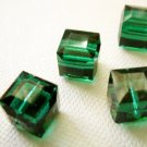 Emerald 2X 8mm 5601 Cube Swarovski Crystal
