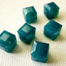 Caribbean Blue Opal 2X 8mm 5601 Cube Swarovski Crystal