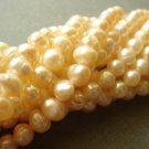 "15"" 4-5mm Round Peach Freshwater Pearl FP001"