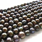 "15"" 4-5mm Round Brown Freshwater Pearl FP002"