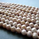 "15"" 4-5mm Round Peach/Mauve Freshwater Pearl FP003"