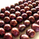 "15"" 6-7mm Round Wine Freshwater Pearl FP008"