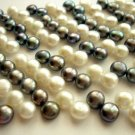 "15"" Top Drilled 6-7mm White and Grey Freshwater Pearl FP011"