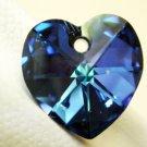 4X Swarovski 10mm Crystal 6202 Heart Heliotrope