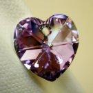 1 Swarovski 18mm Crystal 6202 Heart Pendant Vitrail Light