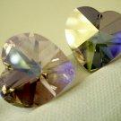 Swarovski 18mm Crystal 6202 Heart Light Amethyst AB