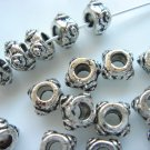 50X Antique Silver Small Dots Spacer Beads LB08