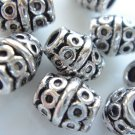 18X Antique Silver Large Barrel Etched Spacer Beads LB12