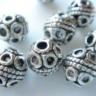 12X Antique Silver Heavy Etched Round Spacer Bead LB13