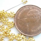 100X Gold Plated 4mm Daisy Spacer Beads LB16