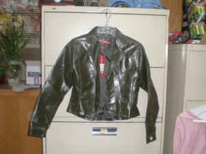 Juniors Faux Leather Waist Coat Jacket