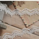 10yards wave Lace trim-white ribbon for sewing-LSENS022