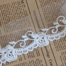 10yards DIY Lace ribbon white rose Fashion Lace Trim Edges For Sewing-LSE0027