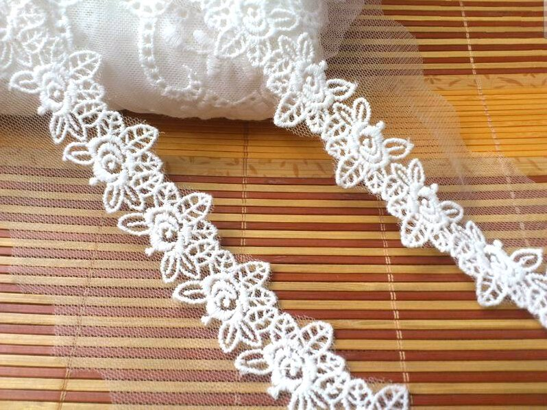 10yards wave Lace trim-white ribbon for sewing-LSENS011