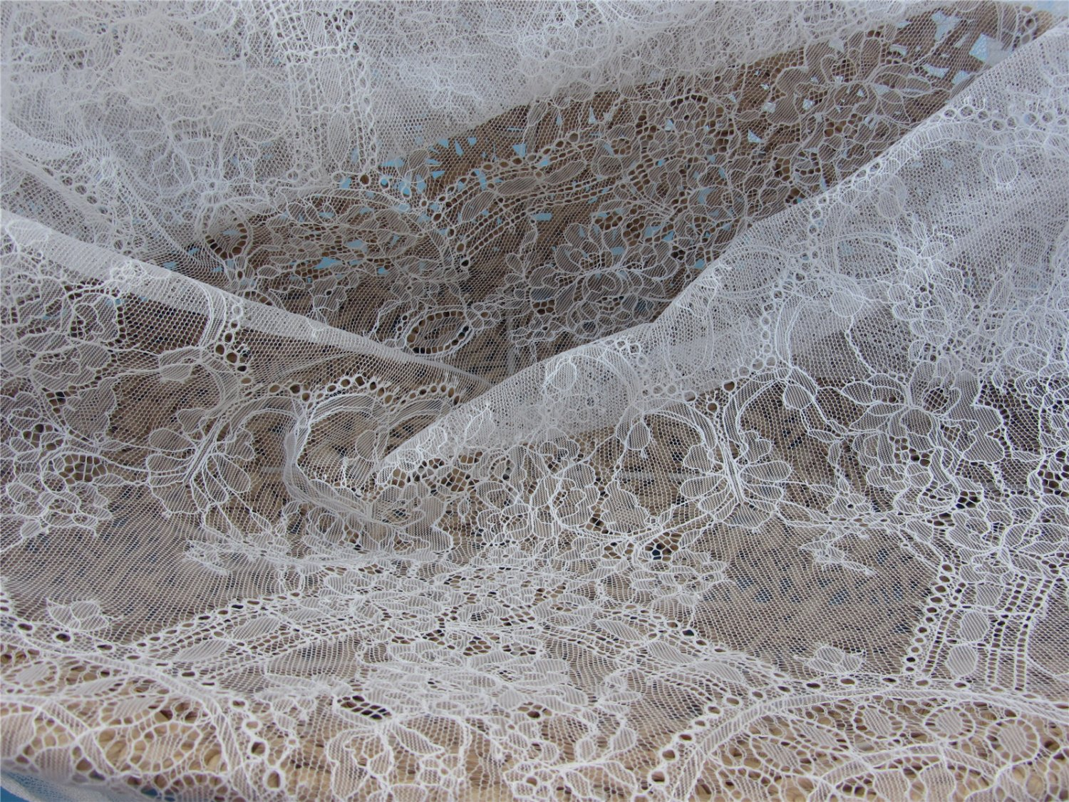 eyelash lace fabric,Chantilly Lace -3meters in 1pcs High quality-T001