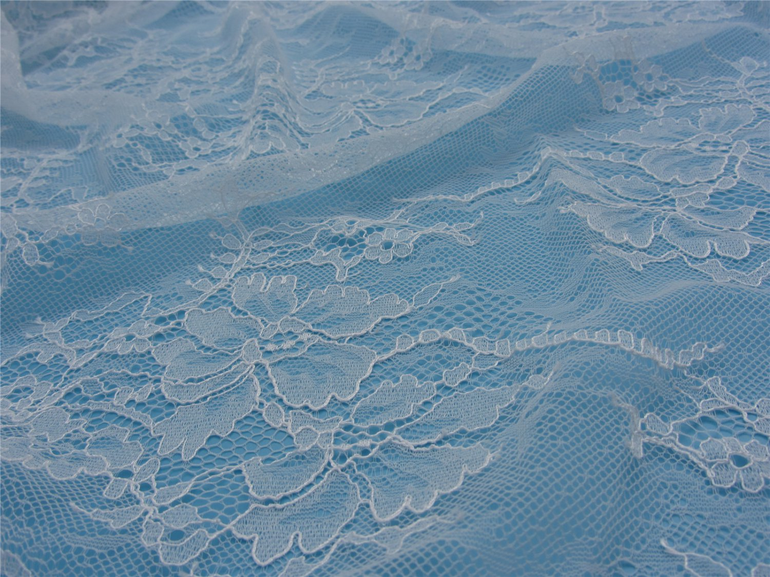 eyelash lace fabric,Chantilly Lace -3meters in 1pcs High quality-T005