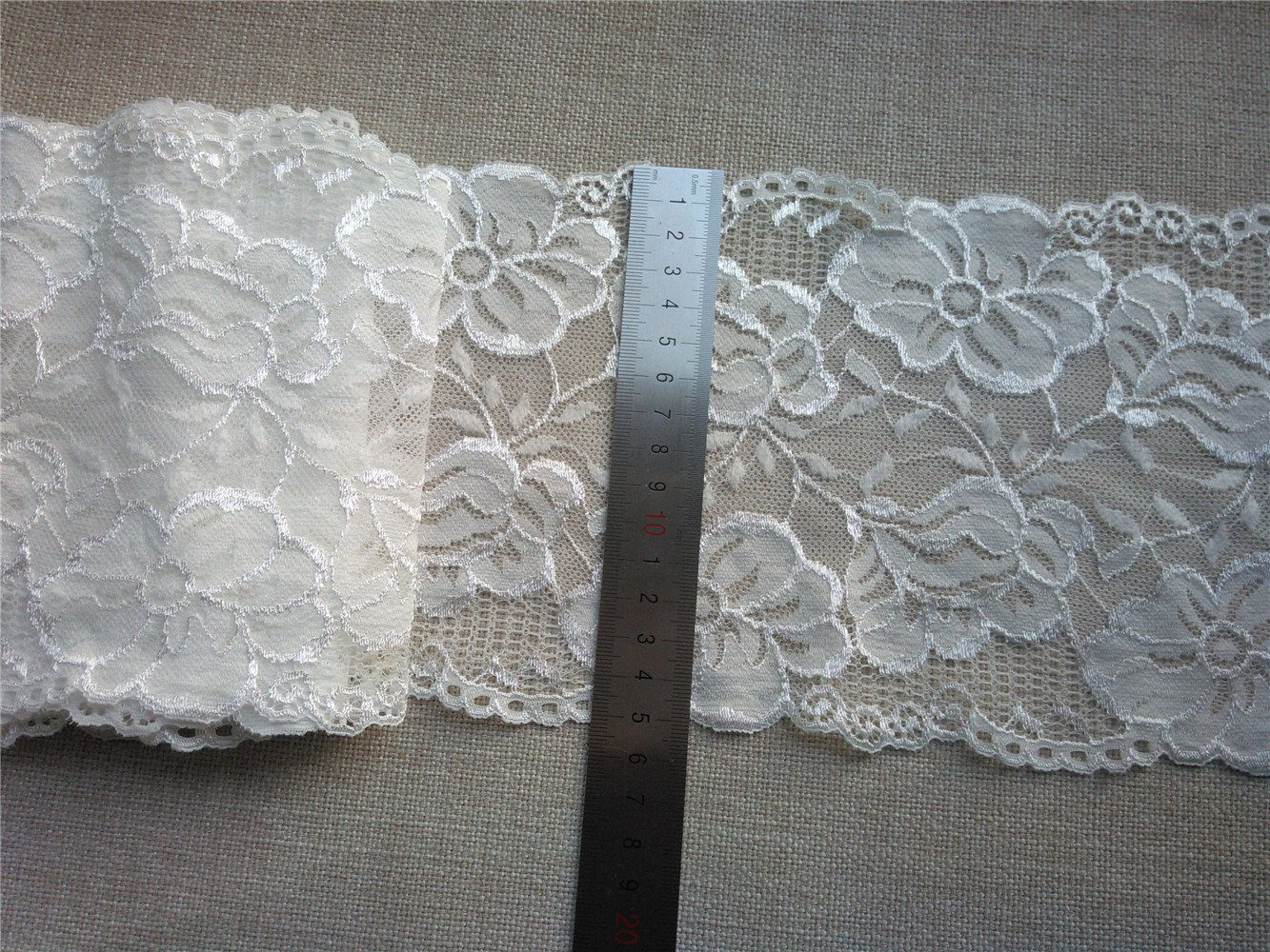 Stretch lace trim,5yards white lace,garter lace trimming-LSY005